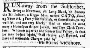 Aug 13 1770 - New-York Gazette and Weekly Mercury Slavery 3