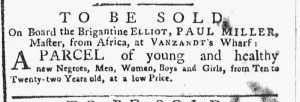 Aug 13 1770 - New-York Gazette or Weekly Post-Boy Slavery 1