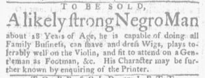 Aug 16 1770 - Massachusetts Gazette and Boston Weekly News-Letter Slavery 3