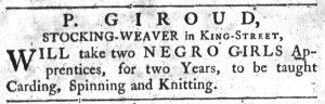 Aug 16 1770 - South-Carolina Gazette Slavery 2