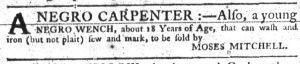 Aug 16 1770 - South-Carolina Gazette Slavery 3