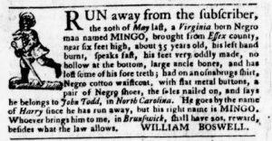 Aug 16 1770 - Virginia Gazette Purdie & Dixon Slavery 10