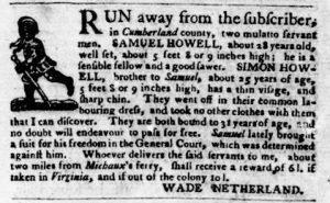 Aug 16 1770 - Virginia Gazette Purdie & Dixon Slavery 3