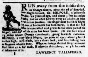 Aug 16 1770 - Virginia Gazette Purdie & Dixon Slavery 7