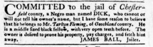 Aug 16 1770 - Virginia Gazette Purdie & Dixon Slavery 8