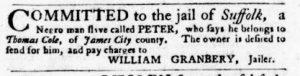 Aug 16 1770 - Virginia Gazette Purdie & Dixon Slavery 9