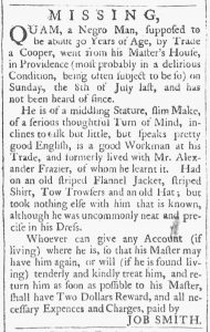 Aug 18 1770 - Providence Gazette Slavery 2
