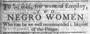 Aug 20 1770 - Newport Mercury Slavery 1