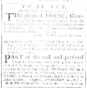 Aug 20 1770 - South-Carolina and American General Gazette Slavery 1
