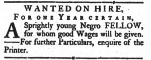 Aug 21 1770 - South-Carolina Gazette and Country Journal Slavery 4