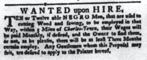 Aug 21 1770 - South-Carolina Gazette and Country Journal Slavery 7