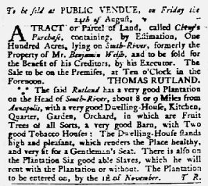 Aug 23 1770 - Maryland Gazette Slavery 3