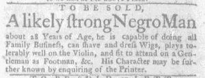 Aug 23 1770 - Massachusetts Gazette and Boston Weekly News-Letter Slavery 3