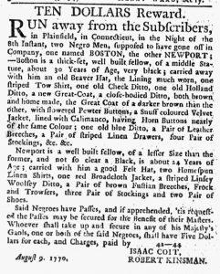 Aug 23 1770 - New-York Journal Slavery 1