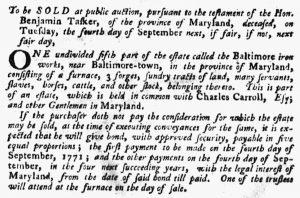 Aug 23 1770 - Pennsylvania Gazette Supplement Slavery 1