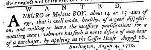 Aug 23 1770 - Pennsylvania Journal Slavery 2