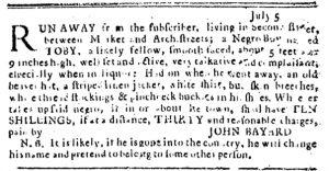 Aug 23 1770 - Pennsylvania Journal Slavery 3