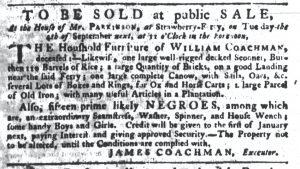 Aug 23 1770 - South-Carolina Gazette Continuation Slavery 3