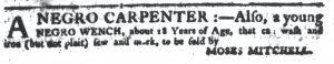 Aug 23 1770 - South-Carolina Gazette Continuation Slavery 5