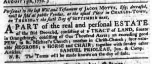 Aug 23 1770 - South-Carolina Gazette Continuation Slavery 6