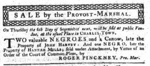 Aug 23 1770 - South-Carolina Gazette Continuation Slavery 7