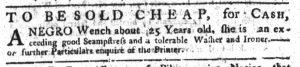 Aug 23 1770 - South-Carolina Gazette Continuation Slavery 8