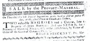 Aug 23 1770 - South-Carolina Gazette Slavery 2