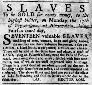Aug 23 1770 - Virginia Gazette Rind Slavery 1
