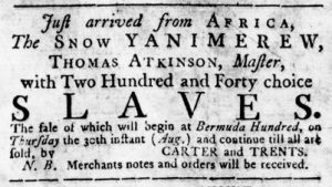 Aug 23 1770 - Virginia Gazette Rind Slavery 2