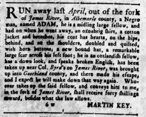 Aug 23 1770 - Virginia Gazette Rind Slavery 6