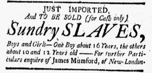 Aug 24 1770 - New-London Gazette Slavery 1