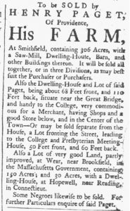 Aug 25 1770 - Providence Gazette Slavery 2