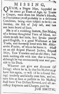 Aug 25 1770 - Providence Gazette Slavery 3