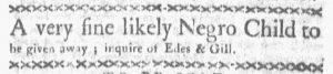 Aug 27 1770 - Boston-Gazette Slavery 1