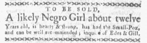 Aug 27 1770 - Boston-Gazette Slavery 2