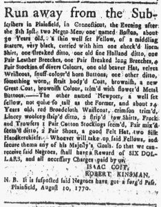 Aug 27 1770 - Connecticut Courant Slavery 1