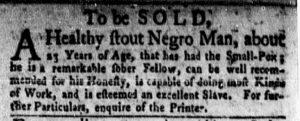 Aug 27 1770 - New-York Gazette and Weekly Mercury Slavery 1