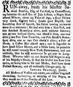 Aug 27 1770 - New-York Gazette and Weekly Mercury Supplement Slavery 1