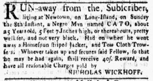 Aug 27 1770 - New-York Gazette and Weekly Mercury Supplement Slavery 2