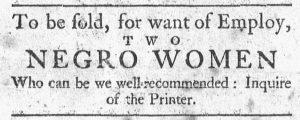 Aug 27 1770 - Newport Mercury Slavery 1