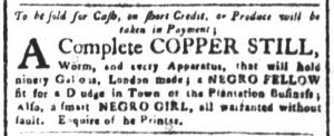 Aug 27 1770 - South-Carolina and American General Gazette Slavery 1