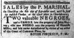 Aug 27 1770 - South-Carolina and American General Gazette Slavery 2