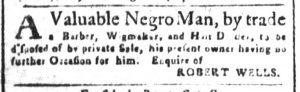Aug 27 1770 - South-Carolina and American General Gazette Slavery 3