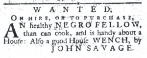 Aug 28 1770 - South-Carolina Gazette and Country Journal Slavery 2