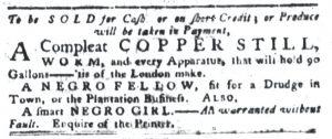 Aug 28 1770 - South-Carolina Gazette and Country Journal Slavery 3
