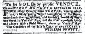 Aug 28 1770 - South-Carolina Gazette and Country Journal Slavery 7