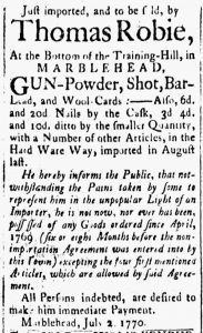 Jul 3 - 7:3:1770 Essex Gazette
