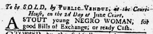 Jun 14 1770 - Maryland Gazette Slavery 1