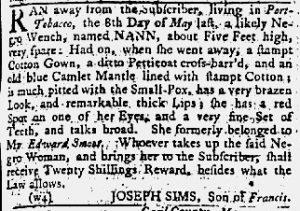 Jun 21 1770 - Maryland Gazette Slavery 1