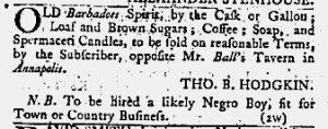 Jun 21 1770 - Maryland Gazette Slavery 3